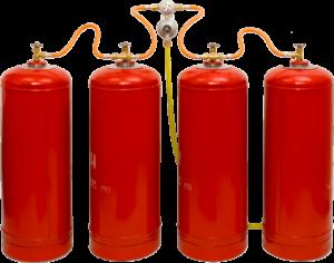 почему газовые баллоны красного цвета